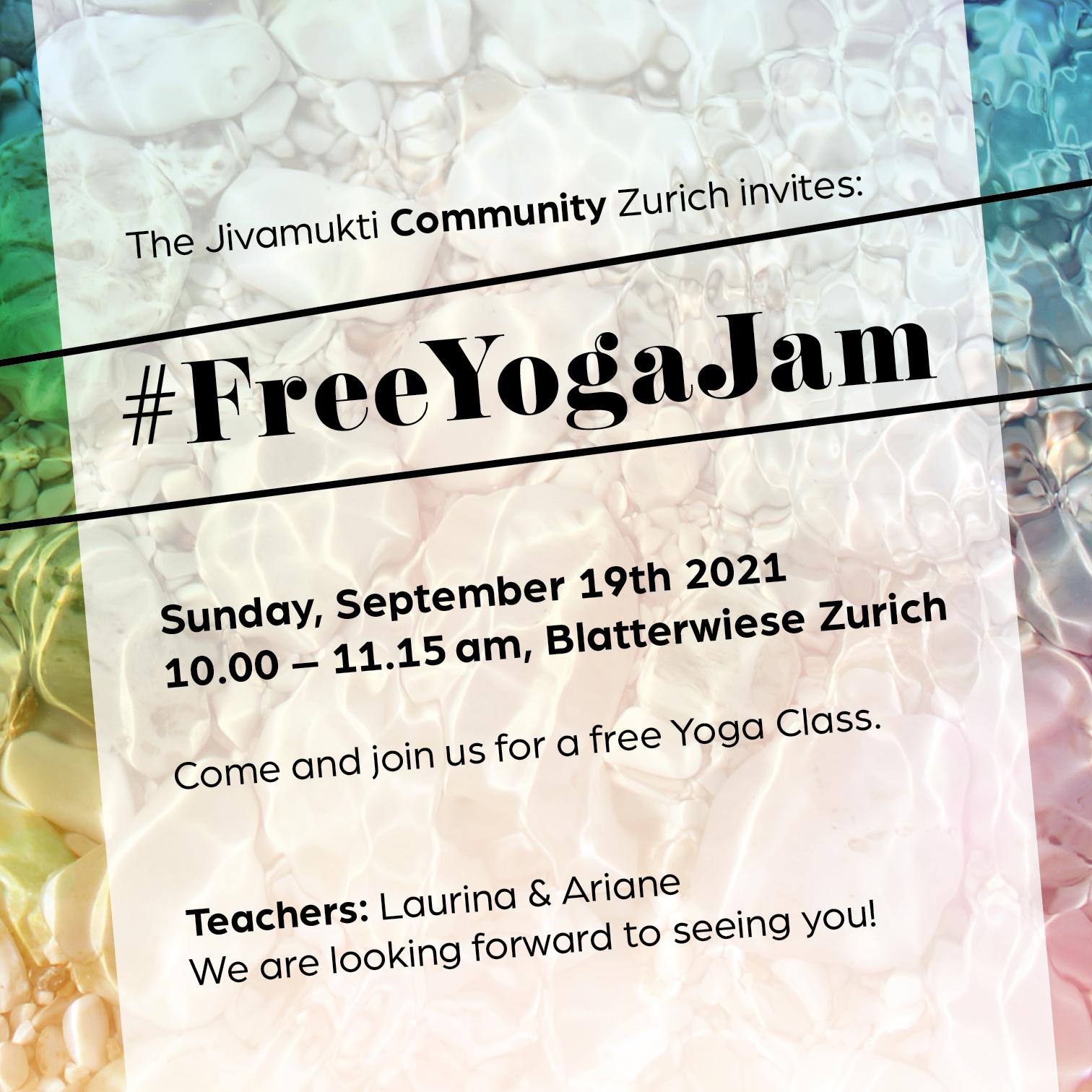Free Yoga Jam Zurich